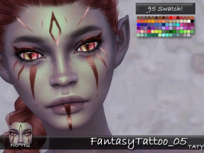 Sims 4 Fantasy Tattoo 05 by tatygagg at TSR