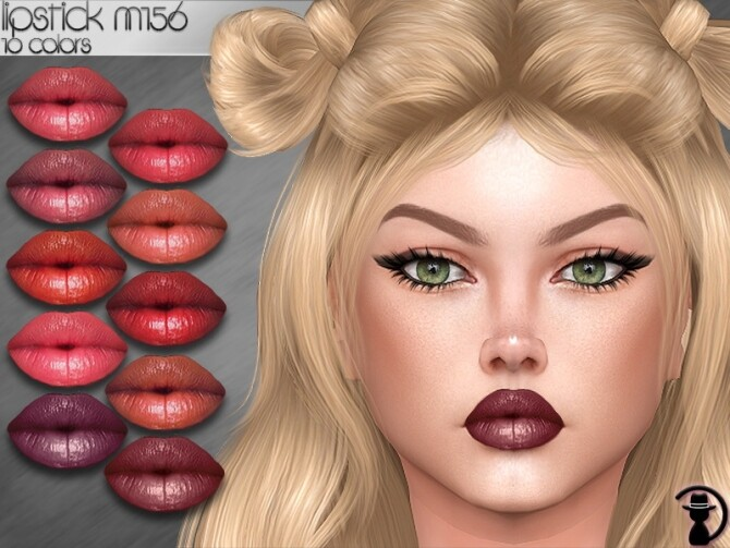 Sims 4 Lipstick M156 by turksimmer at TSR