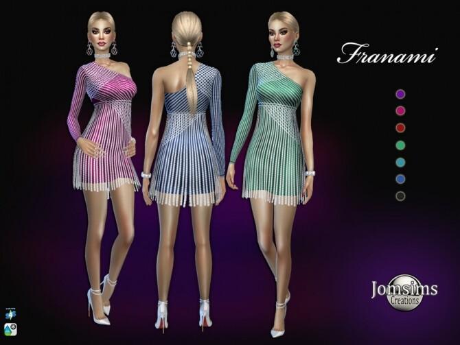 Sims 4 Franami dress by jomsims at TSR