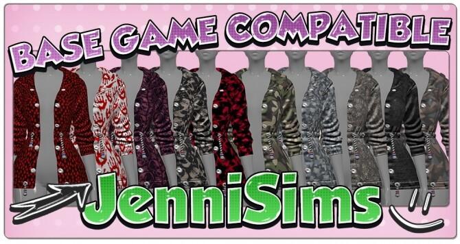 Sims 4 BASE GAME COMPATIBLE Jacket at Jenni Sims