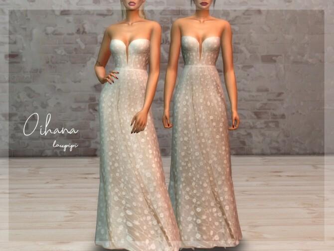 Oihana wedding dress by laupipi at TSR image 452 670x503 Sims 4 Updates