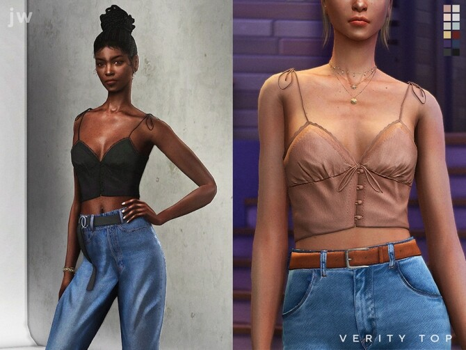Sims 4 Verity Top by  jwofles sims at TSR
