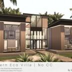 Modern Eco Villa No CC by Sarina_Sims