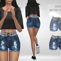 Sofia Belted Shorts by Puresim