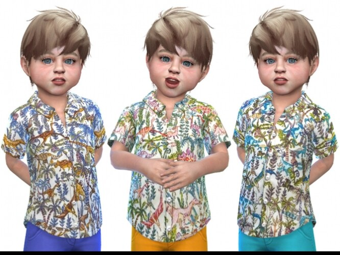 Shirt for Toddler Boys 03 by Little Things