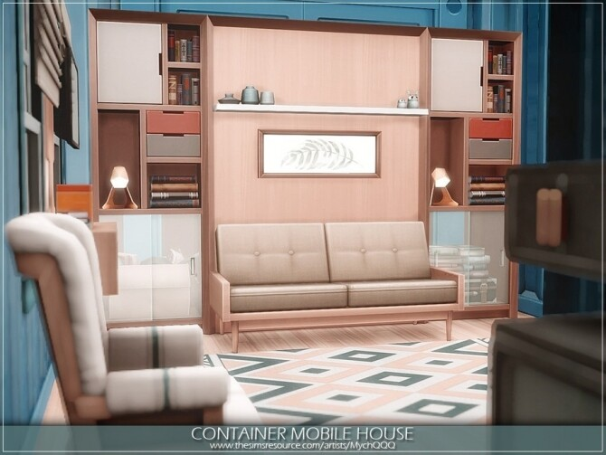 Container Mobile House by MychQQQ at TSR image 4724 670x503 Sims 4 Updates