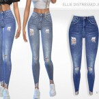 Ellie Distressed Jeans by Puresim