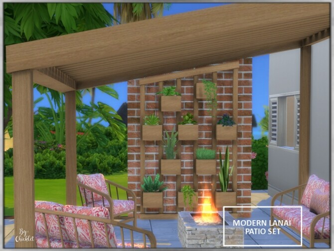 Modern Lanai Patio Set by Chicklet at TSR image 4824 670x503 Sims 4 Updates