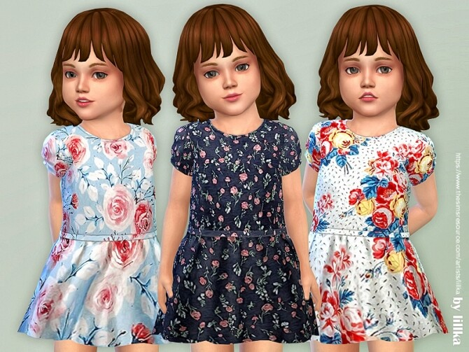 Sims 4 Toddler Dresses Collection P142 by lillka at TSR