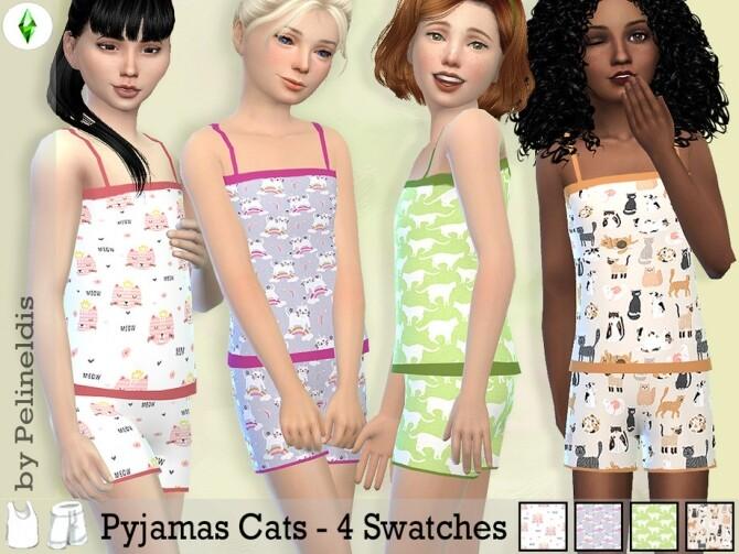 Sims 4 Summer Pyjamas by Pelineldis at TSR