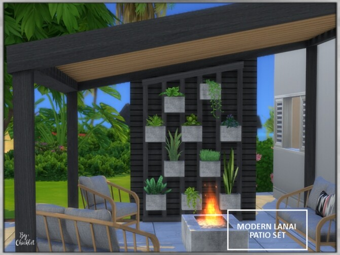 Sims 4 Modern Lanai Patio Set by Chicklet at TSR