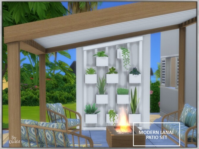 Modern Lanai Patio Set by Chicklet at TSR image 5023 670x503 Sims 4 Updates