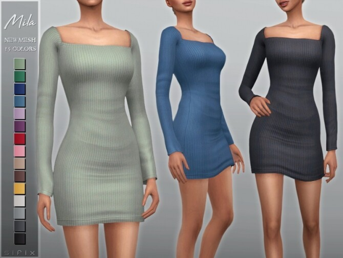Mila Dress by Sifix at TSR image 5113 670x503 Sims 4 Updates