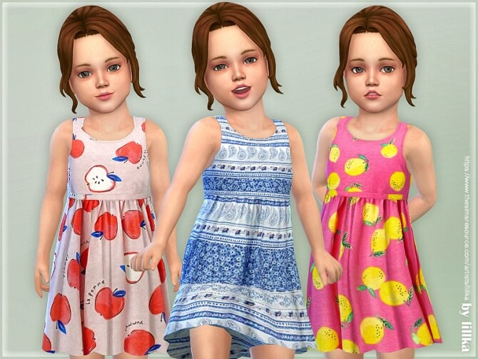 Sims 4 Toddler Dresses Collection P144 by lillka at TSR