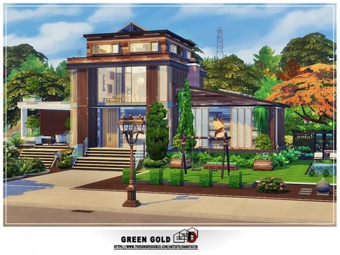 Sims 4 Green Gold house by Danuta720 at TSR