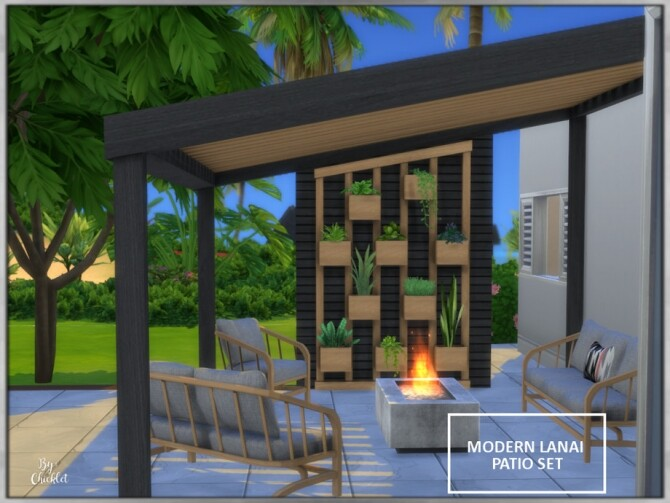 Modern Lanai Patio Set by Chicklet at TSR image 5130 670x503 Sims 4 Updates