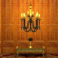 Wooden World Set Walls Doors