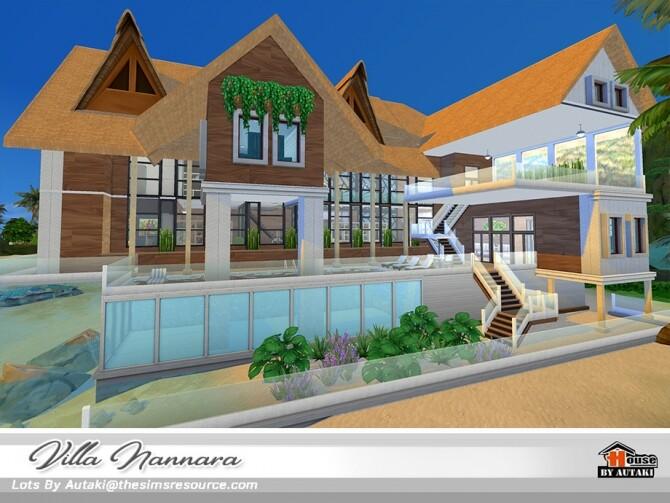 Sims 4 Villa Nannara NoCC by autaki at TSR