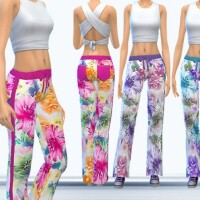 Colorful flower power pants 10 by Zuckerschnute20