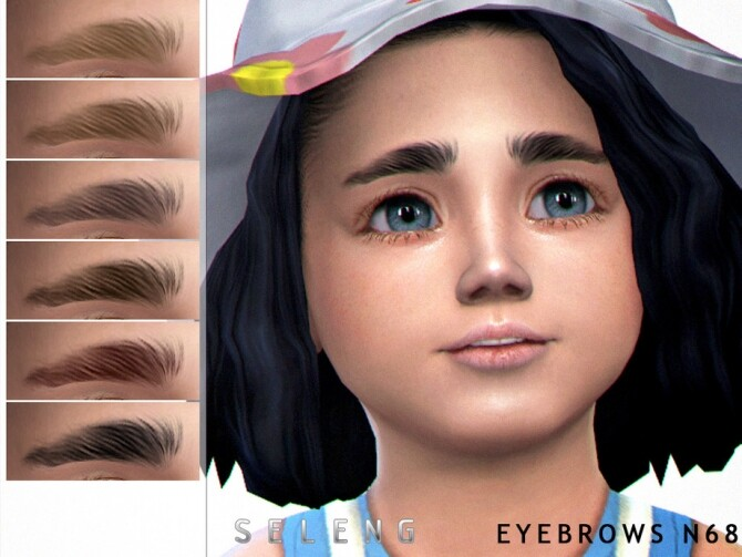 Sims 4 Eyebrows N68 by Seleng at TSR