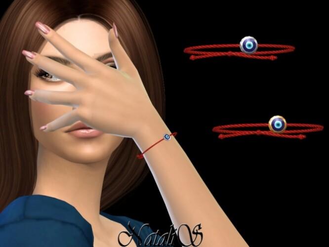 Evil eye red string bracelet by NataliS