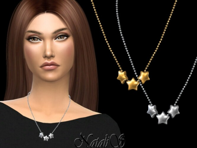 Flat star necklace by NataliS