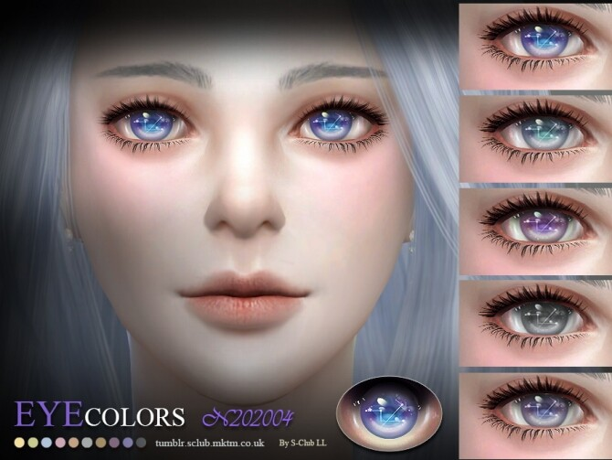 Sims 4 Eyecolors 202004 by S Club LL at TSR