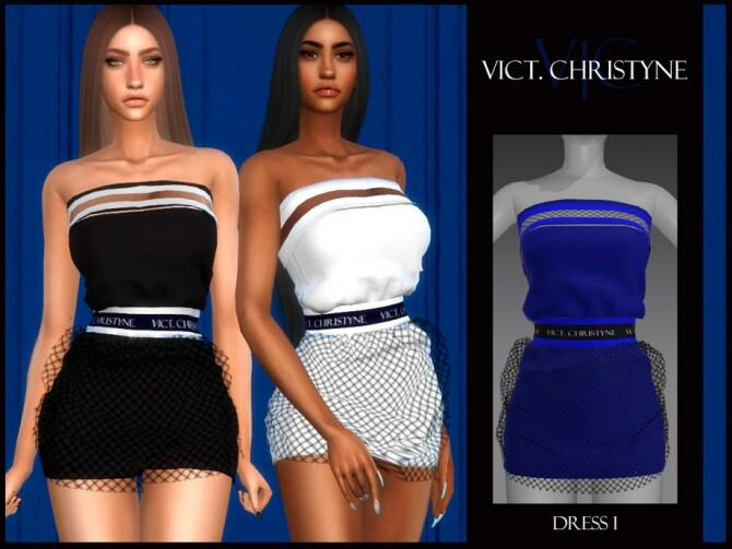 Sims 4 DRESS I VICT. CHRISTYNE by Viy Sims at TSR