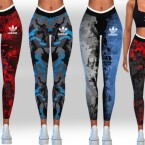 Female Digital Print Athletic Leggings by Saliwa