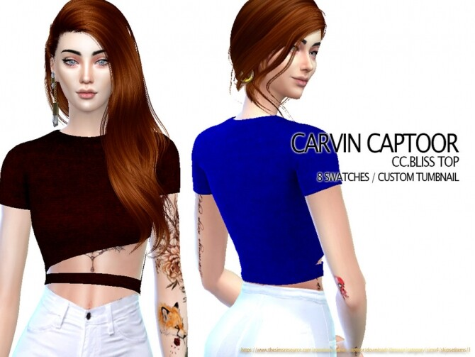 Sims 4 Bliss Top by carvin captoor at TSR
