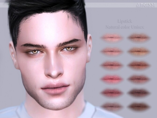 Sims 4 Natural color lipstick by ANGISSI at TSR