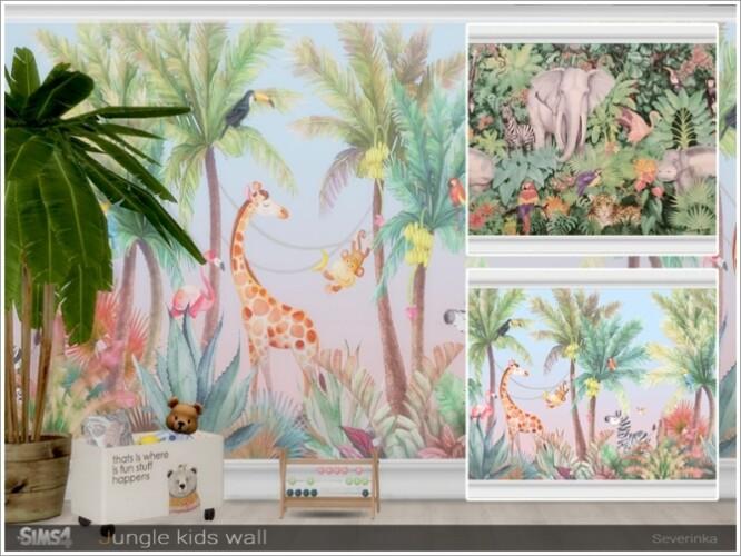 Kids Jungle wall by Severinka