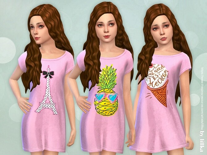 Sims 4 Girls Dresses Collection P145 by lillka at TSR
