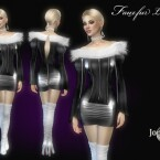 Fauxfur leather dress by  jomsims