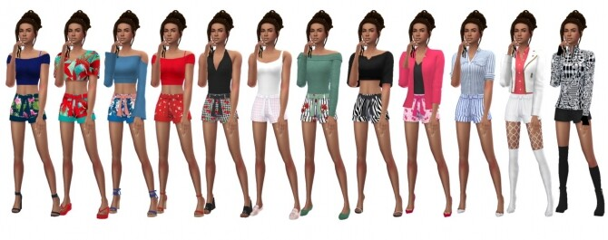 Sims 4 EP01 BELTED SHORTS at Sims4Sue