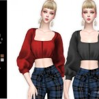 ORRA Puff Sleeve Blouse by Helsoseira
