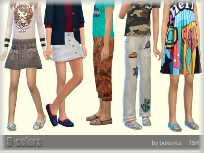Summer shoes for kids by bukovka