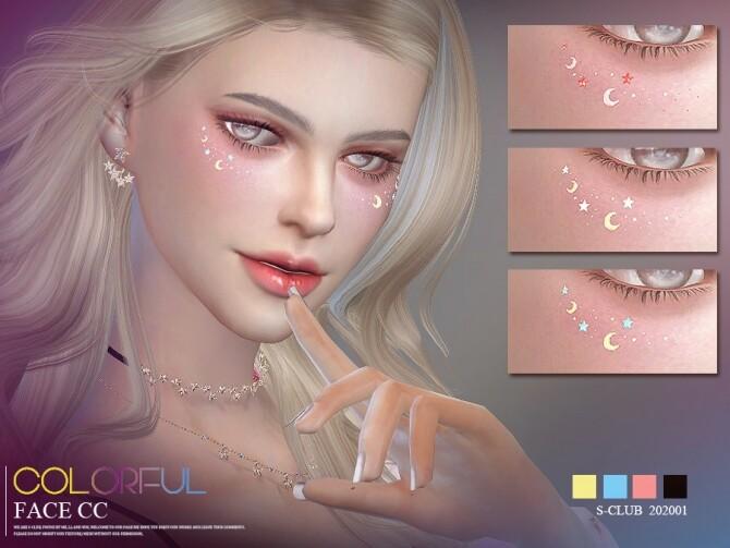 Sims 4 Moon face cc 202001 by S Club LL at TSR