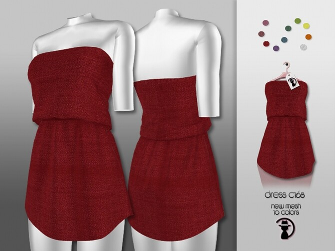 Sims 4 Dress C168 by turksimmer at TSR