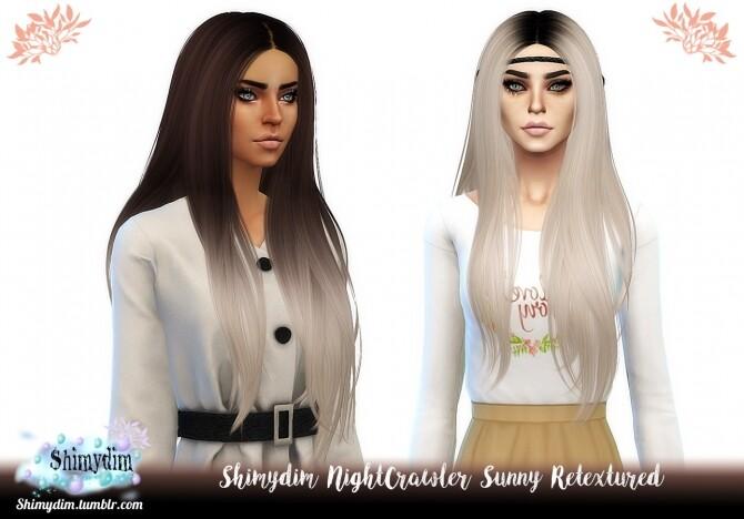 Sims 4 NightCrawler Sunny Hair Retexture Ombre Darkroots Naturals Unnaturals at Shimydim Sims