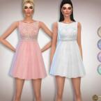 Rhinestones Waist Glitter Dress by Harmonia