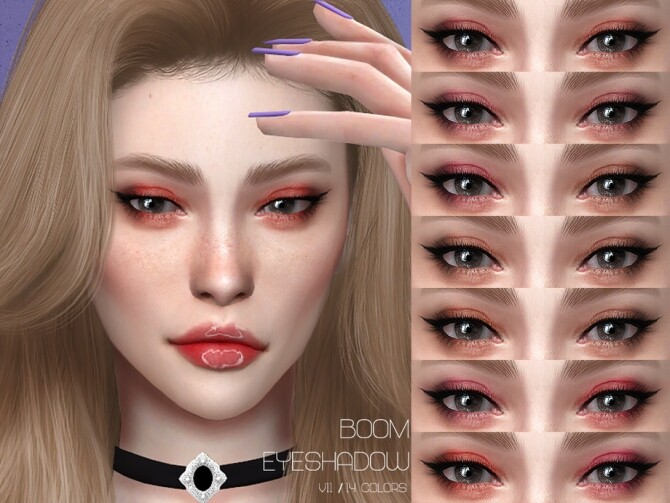 Sims 4 LMCS Boom Eyeshadow V11 by Lisaminicatsims at TSR