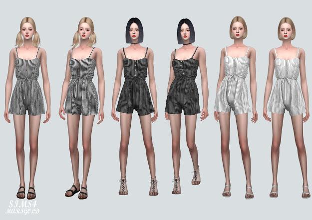 Sims 4 Summer JumpSuit v2 at Marigold