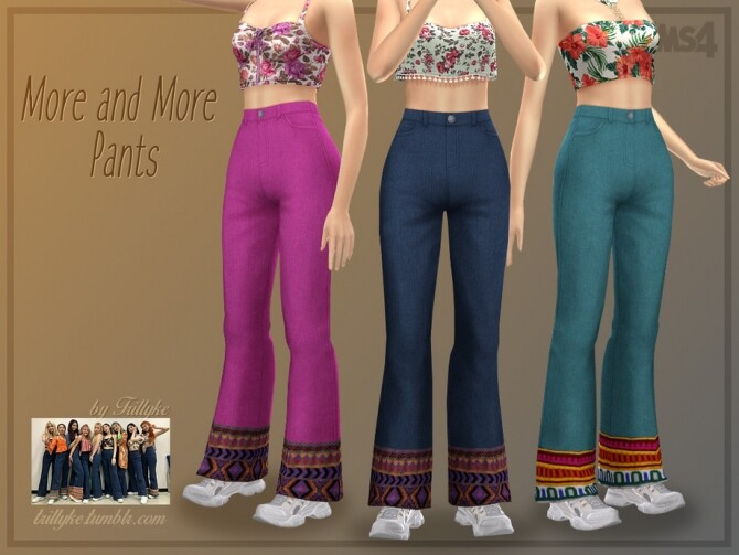 Sims 4 More and More Pants by Trillyke at TSR