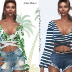 Sulani tropical motif blouse by Sims House