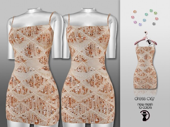 Sims 4 Dress C167 by turksimmer at TSR
