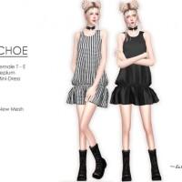 CHOE Peplum Mini-Dress by Helsoseira