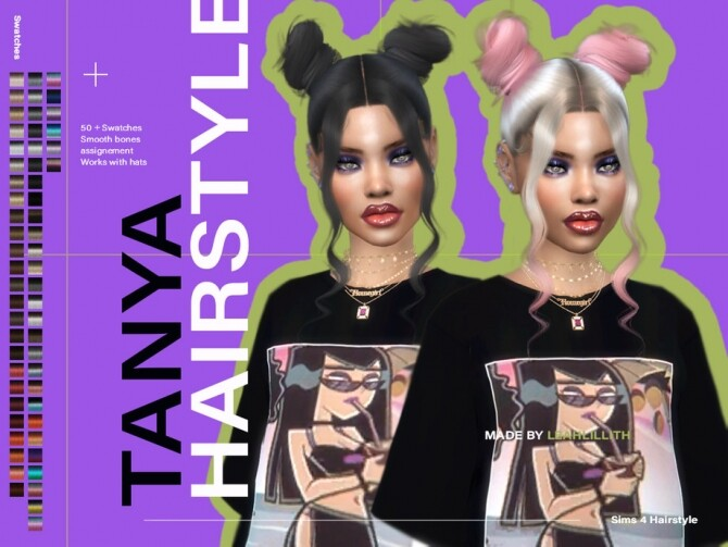 Sims 4 Tanya Hairstyle by Leah Lillith at TSR