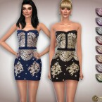 Lace Embroidery Cocktail Dress by Harmonia