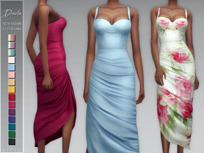 Darla Dress by Sifix at TSR image 613 670x503 Sims 4 Updates